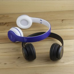 Wholesale PK Beat P47 Bluetooth Headset Headphones Wireless Overear Stereo Headband Headsets With MF TF Retail Package For Apple Samsung