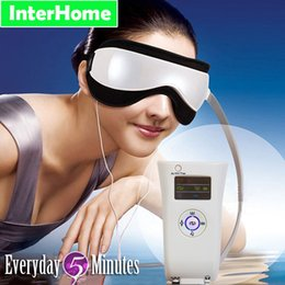 Wholesale Eye Massager Magnetic Therapy Massage Electric Vibration Air Pressure Infrared Heater Eye Care Fatigue Prevention of Myopia