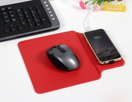 Wholesale Aluminum alloy wireless charger mouse pad Qi wireless charging mobile phone Charger charging for Samsung and QI mobile