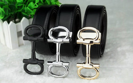 Wholesale 2016 fashion brand belt quality manual gold and silver buckle belt real leather alloy belt for male and female