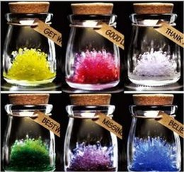 Wholesale Free Shippping Magic Wishing Crystal with LED Light Wish Grow A Crystal DIY Growing Kit Kids Toys Christmas Decoration Baby Toy