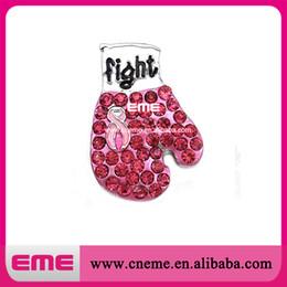 Promotion ruban rose sein Boxe sensibilisation au cancer du sein Gants Ruban Rose Broche pour Filles Mères