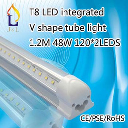 Wholesale High brightness tube W FT mm Led W FT mm led T8 LED Integarted V shape tube light
