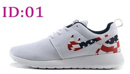 Wholesale 2015 Roshe Run American Flag Shoes London Olympic Mens Womens Rosherun sporting running Breathable Sneakers shoes