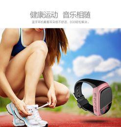 Wholesale B90 Bluetooth speaker watch sports outdoor wireless audio speakers plug cassette LCD screen
