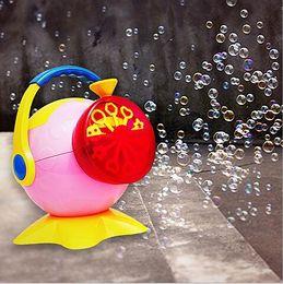 Wholesale Big Soap Bubbles Maker Toy Electronic Automatic Octopus Bubble Machine Bubble Gun Burbujas Blower Toy for Outdoor Party HHA996