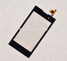 Wholesale-Black New touch Screen Digitizer Panel Glass Lens Sensor for ZTE Blade G Lux V815W KIS 2 V815 cell phone Free shipping