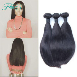 PROMOTION! Cheap 7APeruvian Straight Hair 3Bundles Unprocessed Hair Wefts 100g Bundle 100% Real Hair Extensions Natural 1B Human Hair Weaves