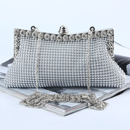 Wholesale Factory Retaill brand new handmade pretty aluminum sheet evening bag clutch with satin for wedding banquet party porm More Colors