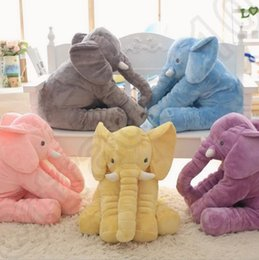 Wholesale Pillow Blanket m Set Elephant Soft Plush Pillow Blankets Animal Stuffed Dolls Toys Cartoon Sofa Bedding Throw Pillow Cushion OOA843