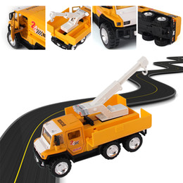 Wholesale 1 High Quality Alloy Model Car SCL Road Rescue Vehicle Maintenance Trailer Tractor Toy Cars New Best Gift