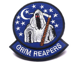 GPS-031 4*3.3 inch High quality 3D Patches THE 100 Grim Reapers Embroidered patches with magic tape armband badge garment accessories