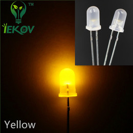 Hot Sale 1000pcs bag 5MM Diffused Round Top Yellow Leds Urtal Bright Bulb Light 5mm Emitting Diodes Electronic Components Wholesale