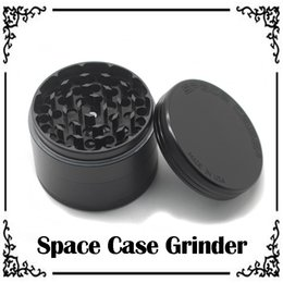 Wholesale 1pc Space Case Grinders Herb Grinders Smoking Metal Grinders Layer mm Diameter Aluminium Alloy custom LOGO