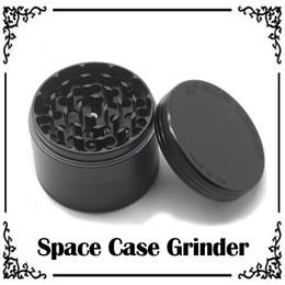 Wholesale 2016 Space Case Grinders Herb Grinders kirsite Grinder Smoking Metal Grinders Layer mm Diameter Aluminium Alloy Material custom LOGO