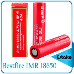 2016 Newest Bestfire IMR 18650 2500mAh 40A Rechargeable battery IMR 18650 e cig Battery Bestfire 3.7v IMR vape battery 0269002-01
