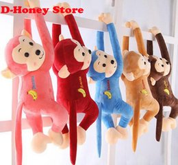 45cm long arm monkey from arm to tail plush toys colorful monkey curtains monkey stuffed animal doll