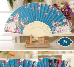Wholesale custom design paper fans with wood handle Wavy Paddle Fan Handle Custom printed cardboard hand fan