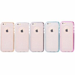 New Arrivel Mobile Phone Glitter TPU Transparent Protective Frame Case with Colorful Electroplating Frame for iPhone 5s 6   6 Plus
