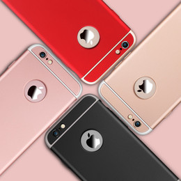 Ultra Slim 3 In 1 Shockproof Back Cover Rose Gold Color Luxury Frosted Armor Case For Iphone 6 6 plus