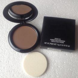 Wholesale NW47 dark color good quality makeup new studio fix powder plus make up face foundation g face powder concealer with sponge makeup