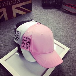 Wholesale New gorro dad hat Hat God Pink blue White Black Letter Adjustable Golf Outdoor anti social social club cap