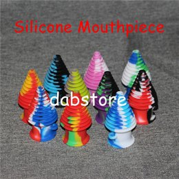 2016 New Shape Silicone Mouthpiece Cover Rubber Drip Tip Silicon Colorful Cap For Smoking Bong Glass Water Pipe Dab Jar Dabber Wax DHL