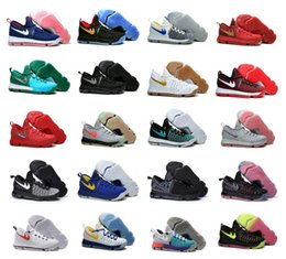 2016 Zoom Air KD IX Hommes Chaussures de basket-ball KD9 Oreo Gris Wolf Kevin Durant 9s Hommes Sport Training Baskets Kevin Durant Taille US 7-12 à partir de kd chaussures hommes taille 12 fabricateur