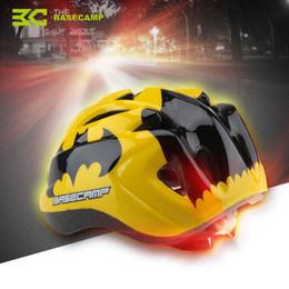 Wholesale Basecamp Children Bicycle Helmets Hero Style Safety Bike Helmet Night Light Ultralight Breathable Cycling Kid Helmet H5121