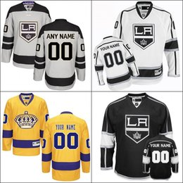 Wholesale Customized Men s Los Angeles Kings th Any Name Any Number Ice Hockey Jersey Gray Alternate Premier Custom Jersey stiched size S XL