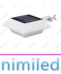 Luces led solar led solar en Línea-nimi1042 4 LED IP44 de polisilicio de la cerca de la energía solar luces del panel exterior de jardín del patio de luz super brillante LED de la pared del hogar de iluminación de techo de la lámpara del fregadero