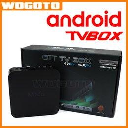 Wholesale 2016 Android TV Box Amlogic S805 Quad Core MXQ OTT TV Box Android Smart Media Player Set Top Box VS M8S Internet TV Box