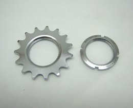 Wholesale Fixed Gear Bike Bicycle Freewheel Cogs Hub Locking Threaded Fixed Wheel Track Flywheel Steel Track Speed T T T T