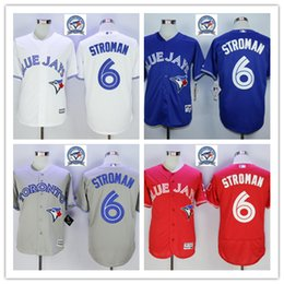 Wholesale 2016 Majestic Official Cool Base MLB Stitched th Season Toronto Blue Jays Marcus Stroman White BLue Red Gray Jerseys Mix Order