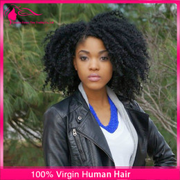 Hot Sale Mongolian Virgin Hair Afro Kinky Curly Full Lace Hair Wigs Afro kinky Curly Lace Front Wigs For Black Woman
