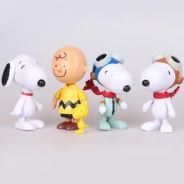 Película de acción en venta-Los juguetes lindos de Charlie Brown Lucy de la historieta de la película de los cacahuetes Snoopy fijaron las figuras de acción del animado de los juguetes del Pvc que envían libremente