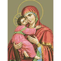 Diy Diamond Painting Madonna and Child Diamond Embroidery Rrhinestone Pasted Painting needles decoration gift 30x40cm LF-043