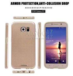 Wholesale For iphone Motomo Bump Spot Case s plus Samsung S7 S6 edge plus A710 Grand Prime G530 Motomo Hybrid TPU PC Back Cover for iphone6 OPP Bag