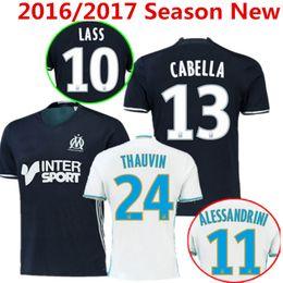 Wholesale 2016 Season Olympique de Marseille Soccer Jersey Batshuayi Gignac Maillot de Foot Payet Ocampos Lass Home Shirt kits Camisa Top Quality