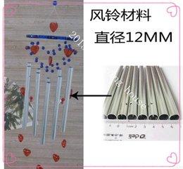 Promotion des tubes métalliques creux Magnard cloches d'argent tube de matière aluminium métalliques accessoires bricolage manuel creux longueur de tube de 18cm de diamètre 12MM