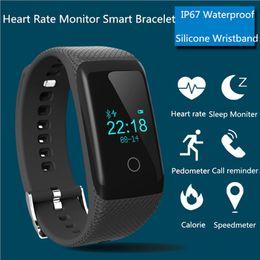 Wholesale Smart Watch Bracelet Heart Rate Monitor Pedometer IP67 Waterproof Fitness Activity Tracker