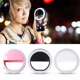 Descuento anillo de luz led de la cámara 2017 Portable LED Selfie anillo de luz de relleno de flash fotográfico de la cámara de proyector para el iPhone Android Phone