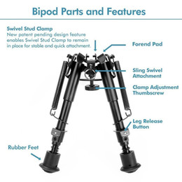 Wholesale Hot Sell Adjustable Inch To Inch Handy Spring Return Sniper Hunting Tactical Rifle Bipod w Weaver Rail