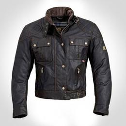 2017 chaquetas de los hombres de cera Al por mayor-Steve McQueen El hombre de la chaqueta de la motocicleta de calidad superior cera de la prendas de vestir de los hombres de la chaqueta de la chaqueta roadmaster chaquetas de los hombres de cera promoción