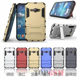 Wholesale J1 Ace Cases Dual Layer Protective Hybird Armor Case Slim Fit Advanced Shock Absorption Protection Kick Stand For Galaxy J1 Ace DHL