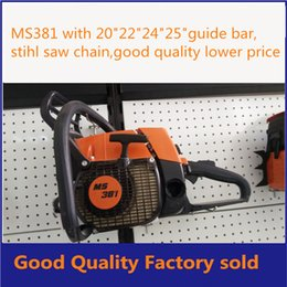 Wholesale MS381chain saw with quot quot quot quot bar wood cutting machine cc gasoline chain saw factory sold