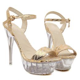 Sexy Womens Shoe Fashion Plus Size Lady Sandal Shoe Woman High Heel Crystal Transparent Stiletto Heel Wed Shoe