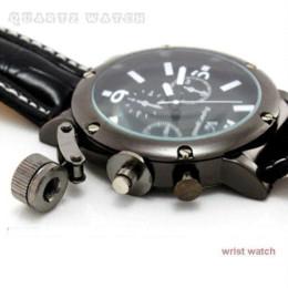 2017 la montre-bracelet pour hommes Noble V6-2 Orange Blanc Numerals Strips Heure Marques Round Dial Quartz Heures Analogique Montre-bracelet en cuir hommes la montre-bracelet pour hommes offres
