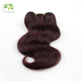 Burgundy Brazilian Body Wave Human Hair Weave Bundles Color 99j Red Wine Peruvian Malaysian Hair Extensions Body Wave 7a Grade