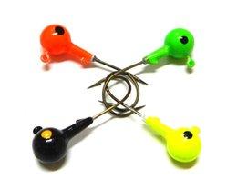 Wholesale 4pcs mm g colors Beautiful Lead Round Head Fishing Lure Jigs Hooks